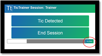 3 trainer buttons during session